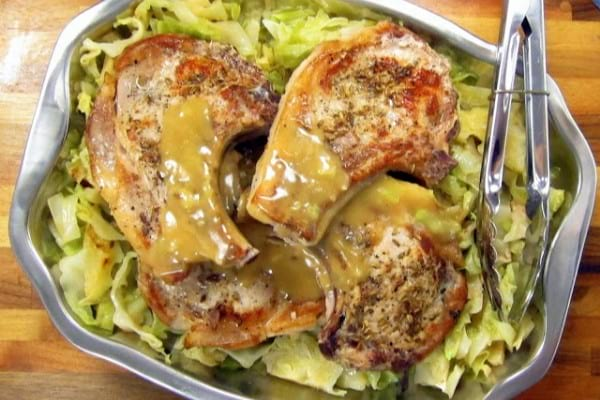 Pork Chops & Cabbage