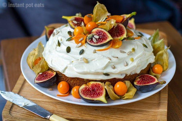 Pressure Cooker Carrot Cake