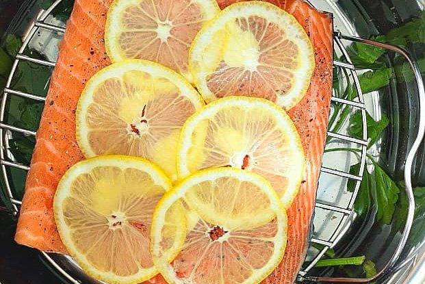Lemon Pepper Instant Pot Salmon