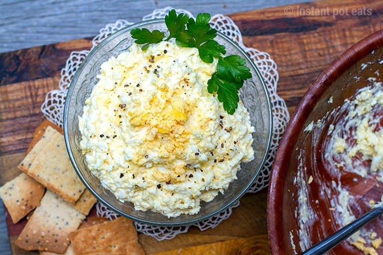 Egg Cheese Salad Dip Recipe