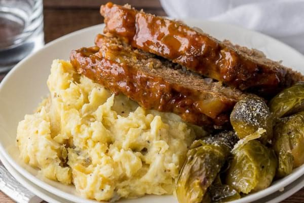 Instant Pot Meatloaf & Mashed Potatoes