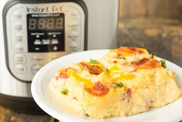 Twice Baked Instant Pot Potato Casserole