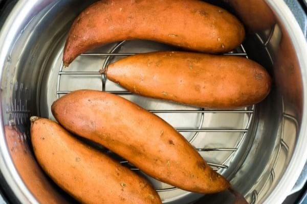 Cooking sweet potatoes for meal prep