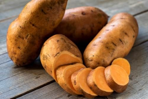 Instant Pot vegetables: sweet potatoes