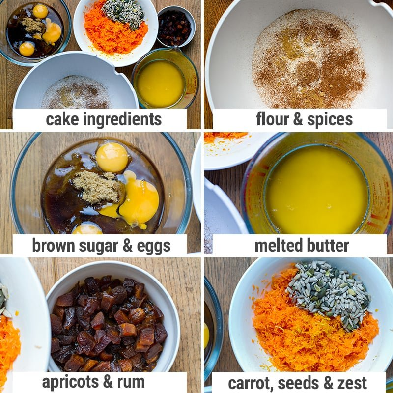 pressure cooker carrot cake ingredients