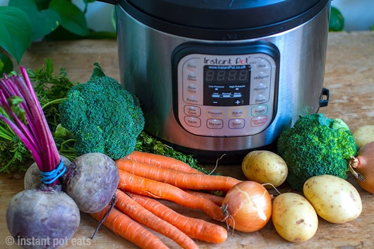 Instant Pot Vegetables 101 - how to use pressure cooker to make potatoes, carrots, beets, greens and more
