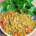Instant Pot Curried Coconut Lentiles - Easy Recipe