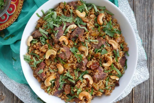 Instant Pot Brown Rice Biryani With Lamb