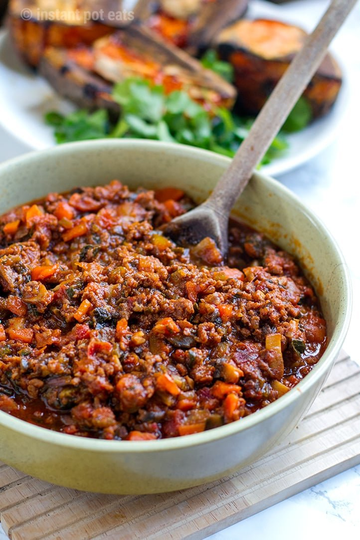 Instant Pot Sloppy Joes (healthy, gluten-free, paleo recipe)
