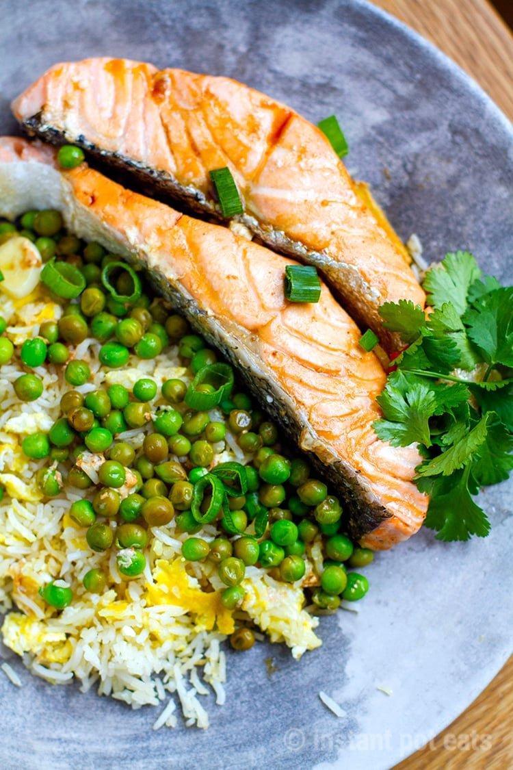 Instant Pot Teriyaki Salmon & Peas
