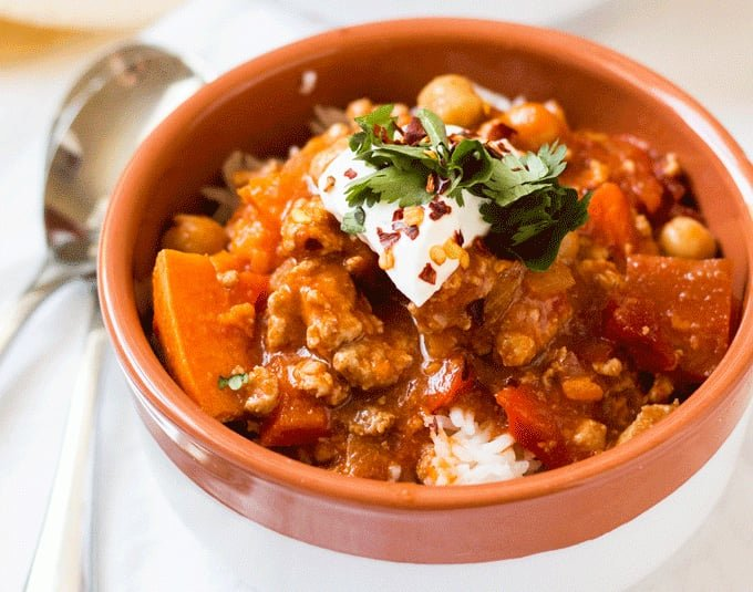 turkey & sweet potato chili