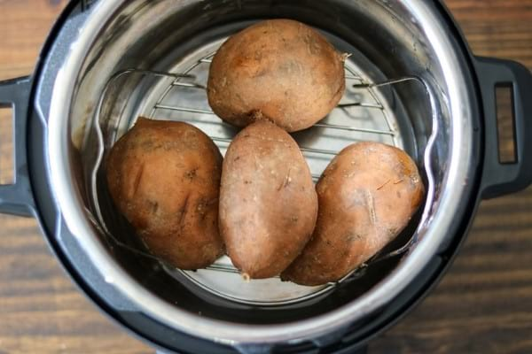 Instant Pot trivet with potatoes