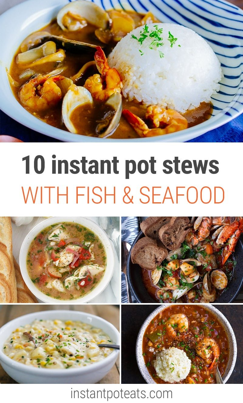 10 Delicious & Fresh Fish & Seafood Stew Recipes for Instant Pot