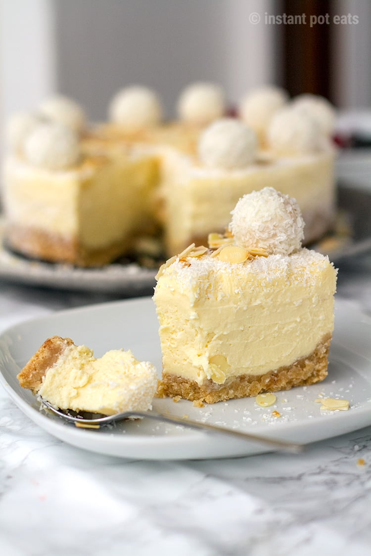 Instant Pot Cheesecake Inspired by Raffaello