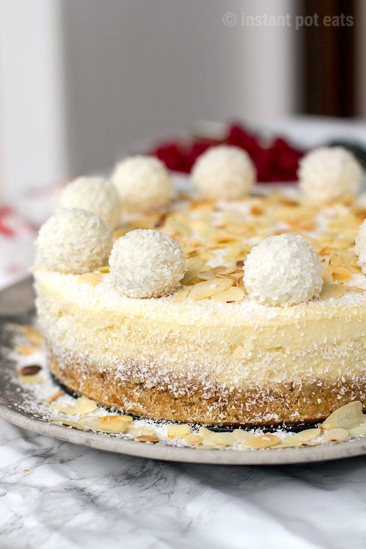 Instant Pot Cheesecake Raffaello Style