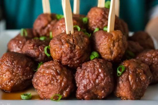 Sweet & Spicy Instant Pot Meatballs