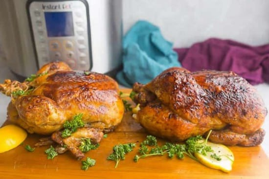 Instant Pot whole rotisserie chicken recipe