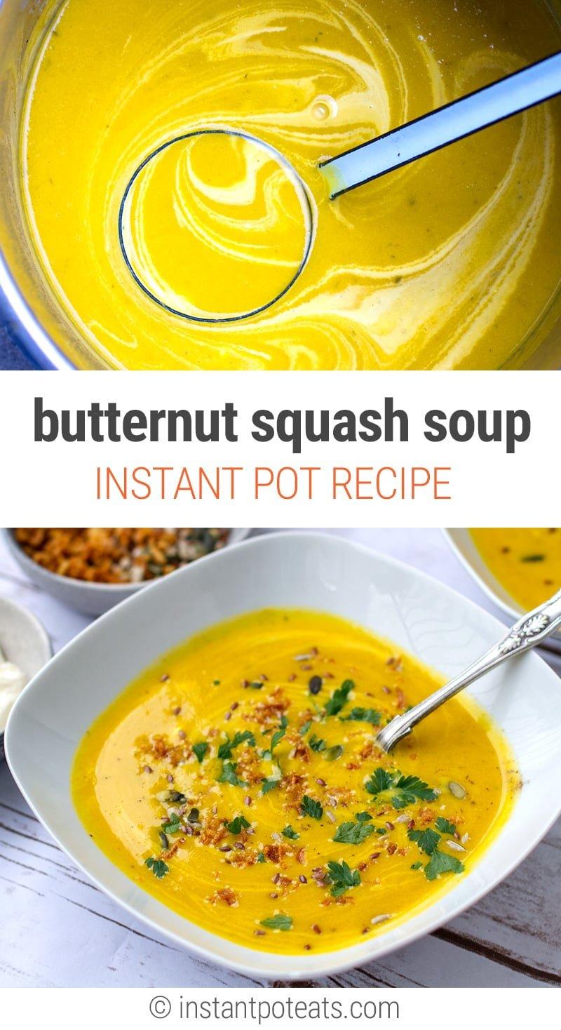 Instant Pot Butternut Squash Soup Recipe