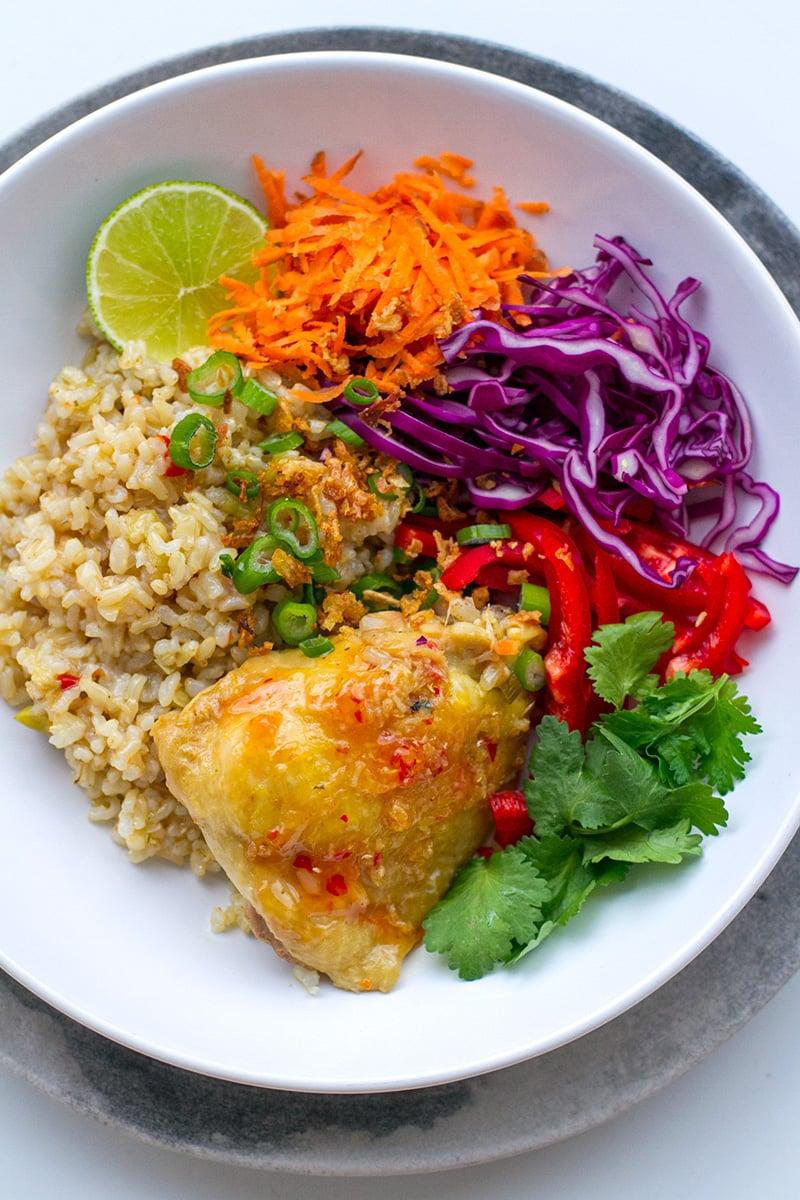 Instant Pot Chicken & Brown Rice Recipe