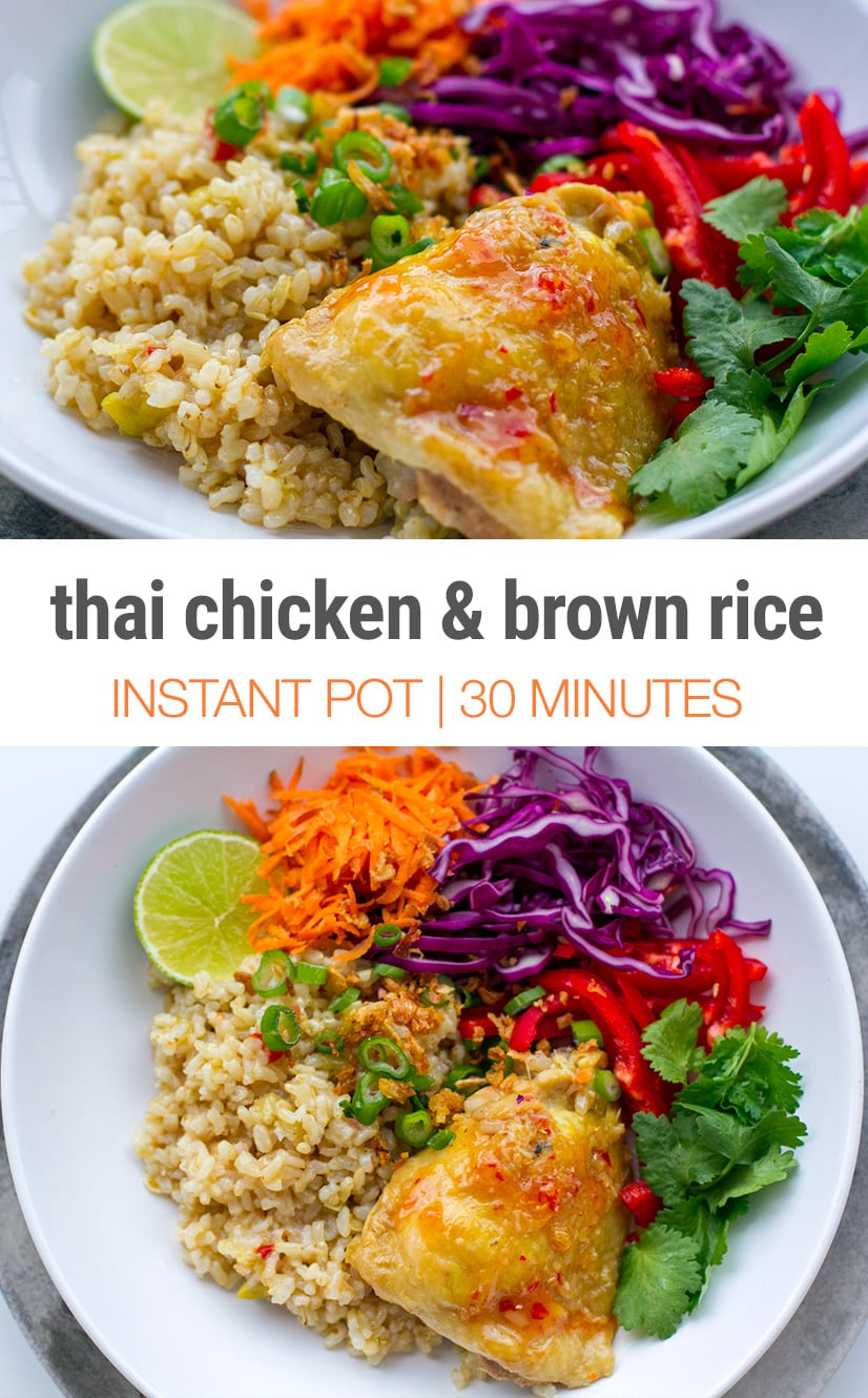 Instant Pot chicken and brown rice recipe