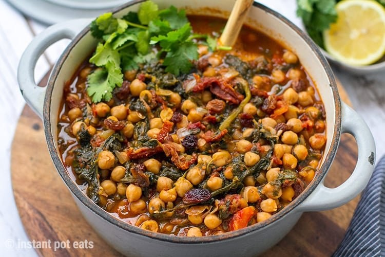 Instant Pot Chickpea Stew Moroccan Style (Vegan, Gluten-free)