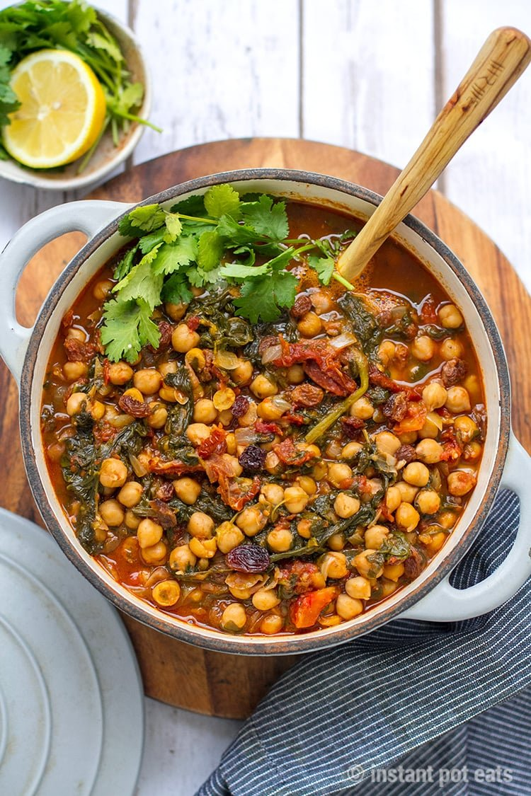 Moroccan Instant Pot Garbanzo Beans Stew