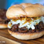 Instant Pot Shredded Beef Sandwiches With Cheese & Garlic Buns