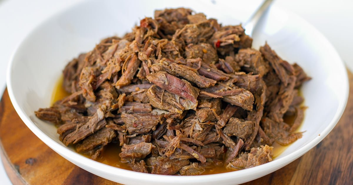 Instant Pot Shredded Beef (Paleo, Whole30, Gluten-Free)
