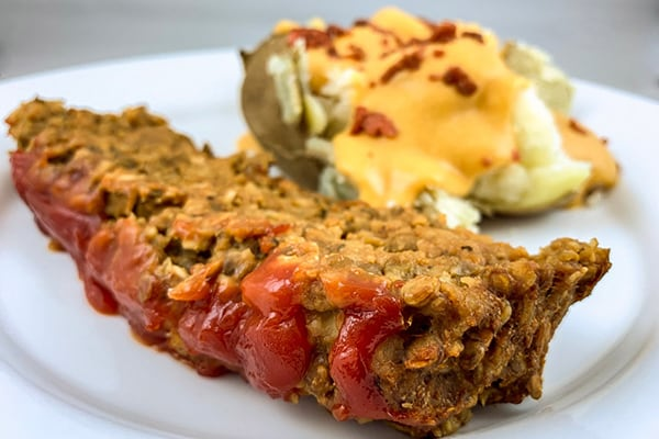 Super Easy Instant Pot Lentil Loaf