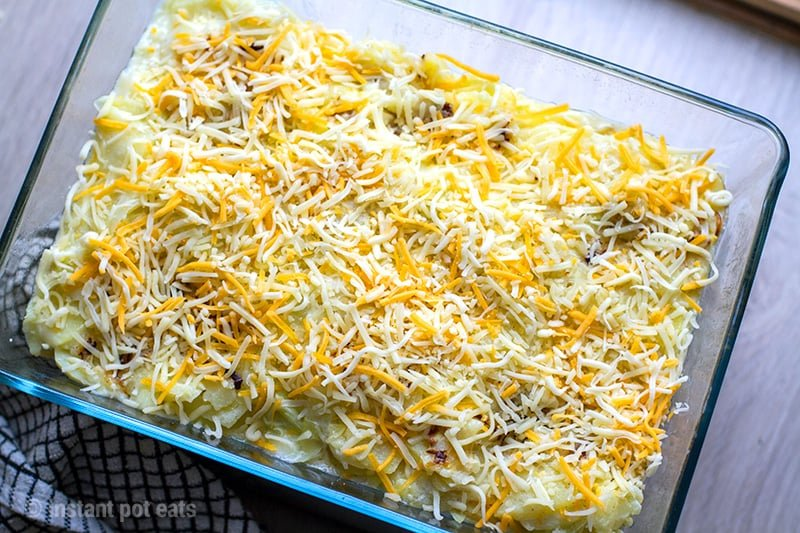 Grated cheese for potatoes au gratin