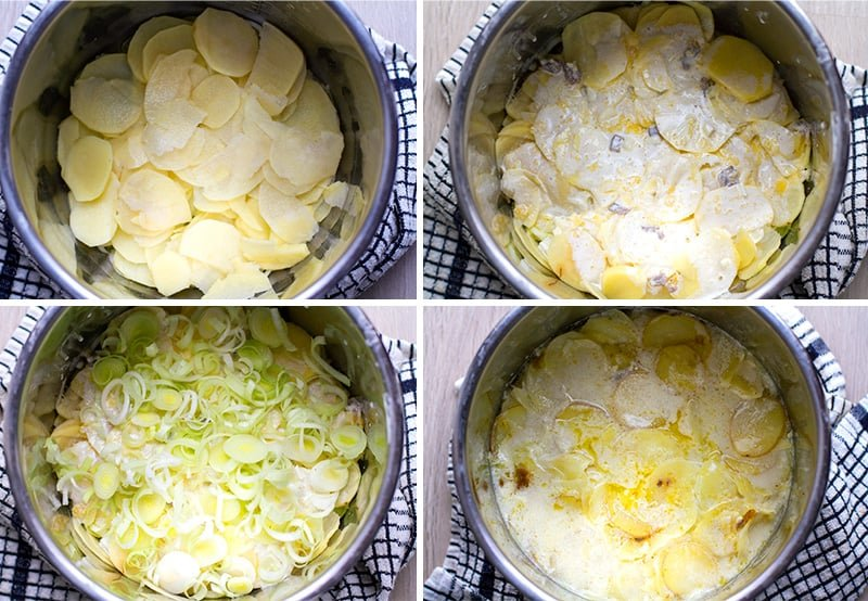 Instant Pot potatoes au gratin with creamy sauce