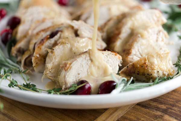 Christmas Maple Mustard Turkey Breast with Easy Gravy