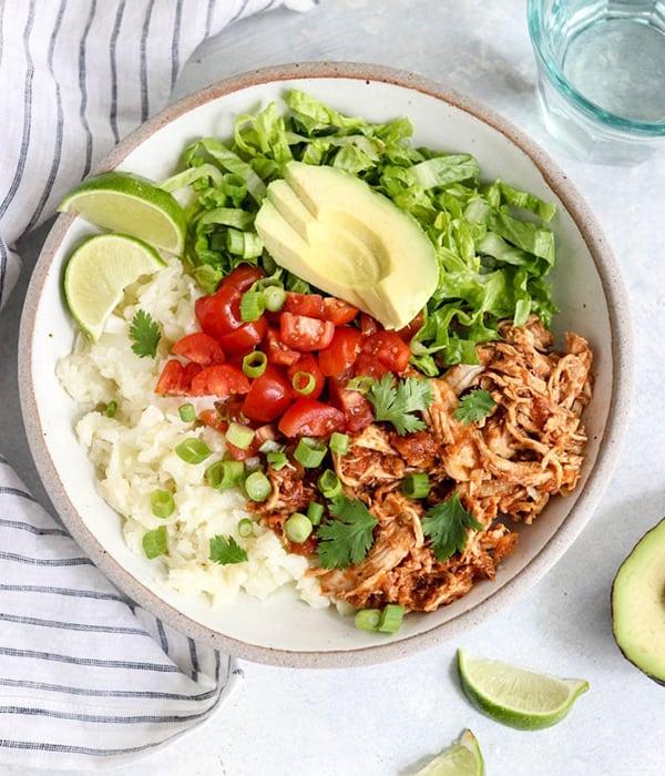 Healthy Instant Pot Low Carb Burrito Bowls