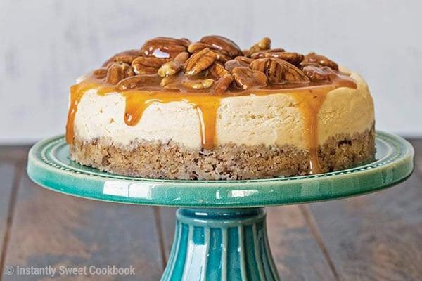 Instant Pot Caramel Pecan Cheesecake