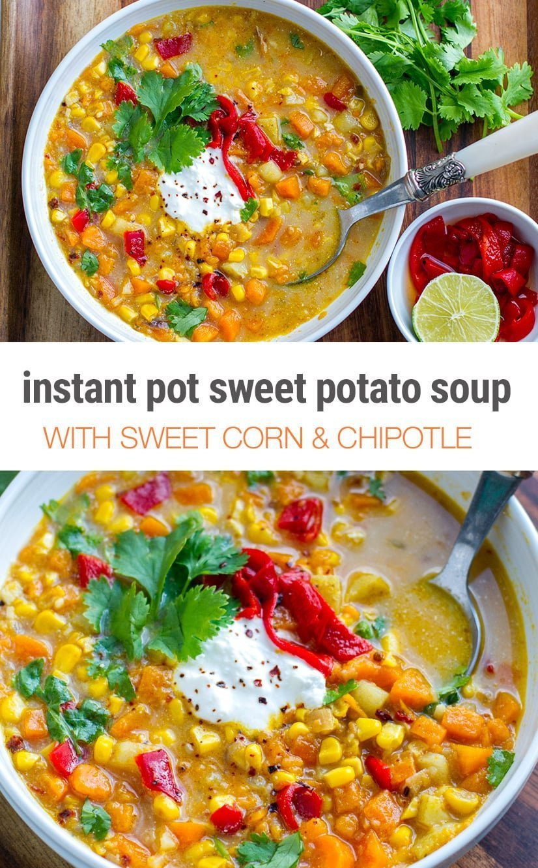 Corn & Sweet Potato Instant Pot Soup
