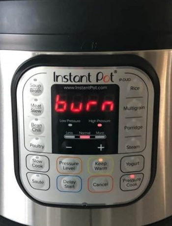 Instant Pot Burn Message. What Does It Mean? What Are The Causes? How To Fix It?
