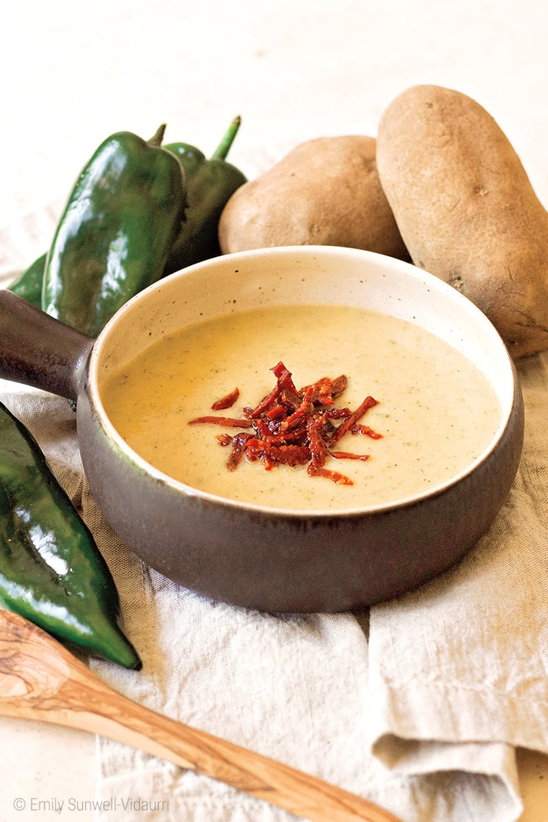Instant Pot Potato Soup With Poblano Peppers Recipe