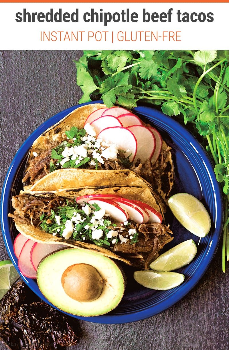 Shredded Instant Pot Beef Tacos (Mexican Stye)