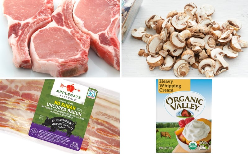 Keto Instant Pot Pork Chops Ingredients