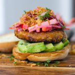 Vegan bean burgers two ways