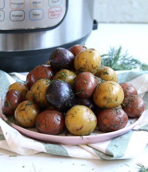 Instant Pot Baby Potatoes with Dill & Butter
