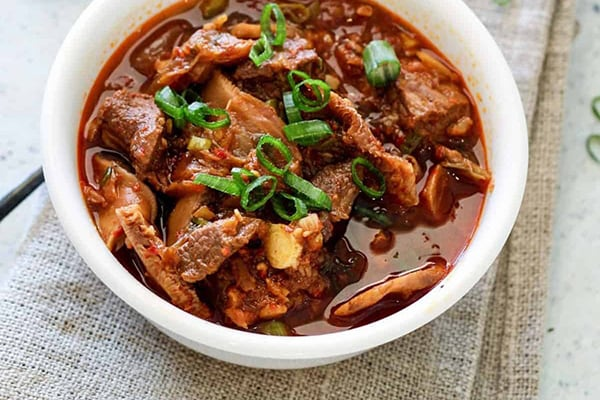 Instant Pot Low-Carb Kimchi Beef Stew