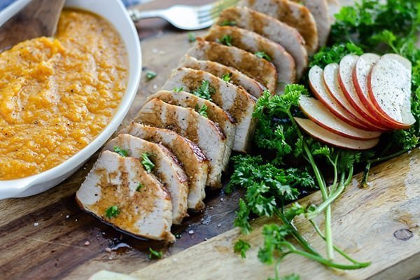 Instant Pot Pork Tenderloin Apples Sweet Potatoes