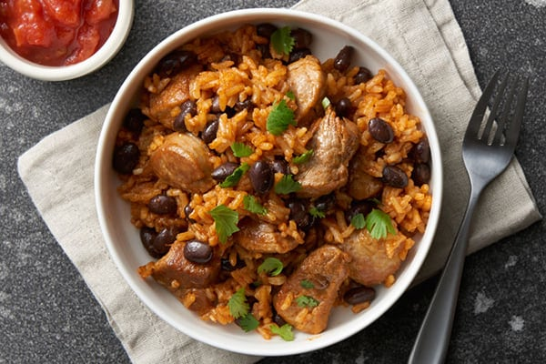 Rice & Beans With Pork