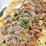 Instant Pot Pork Tenderloin & Potatoes With Mushroom Sauce