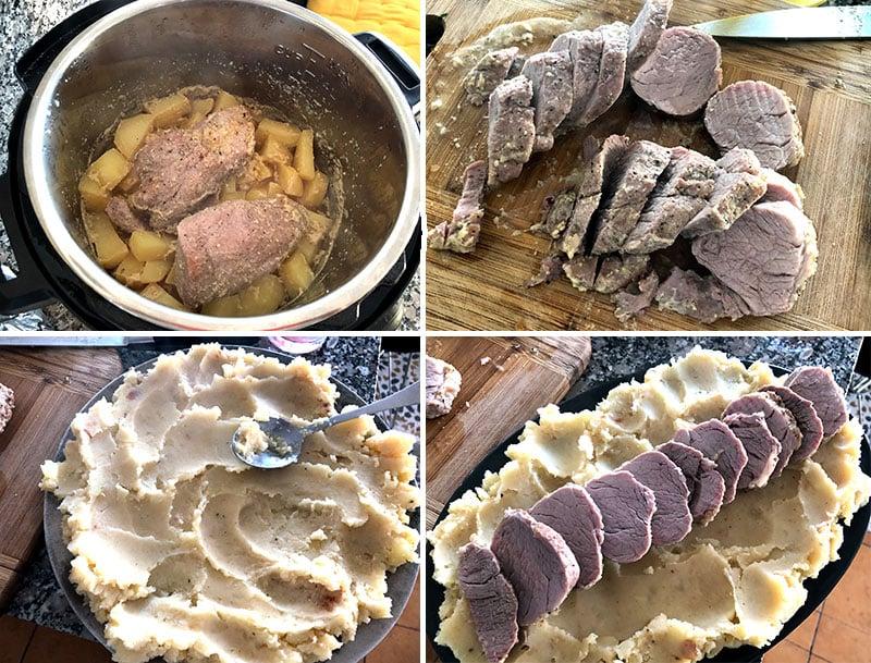 Pressure cooker pork tenderloin and potatoes
