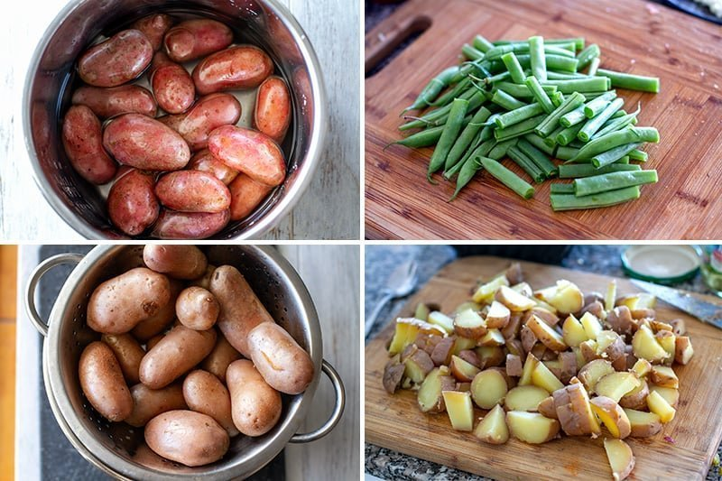 Instant Pot potatoes for potato salad & green beans
