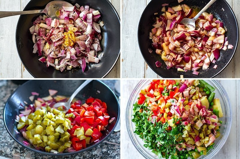 making instant pot potato salad