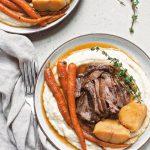 Instant Pot Balsamic Dijon Pot Roast | #potroast #pressurecooker #balsamic #dijon #familydinner #sundaypotroast