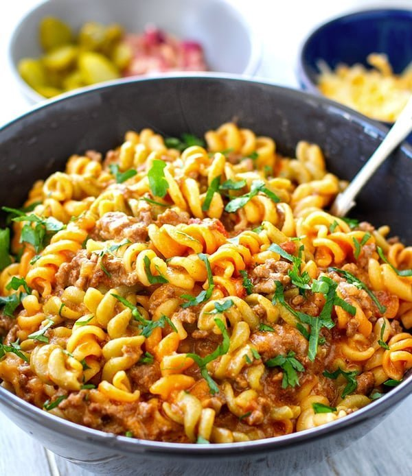 Instant Pot Cheeseburger Pasta (Hamburger Helper Inspired)